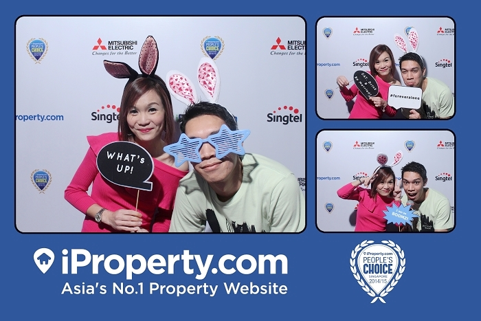 instant photography, photobooth, singapore, instant prints, iproperty.com, instant photos, customized backdrop, photowall,