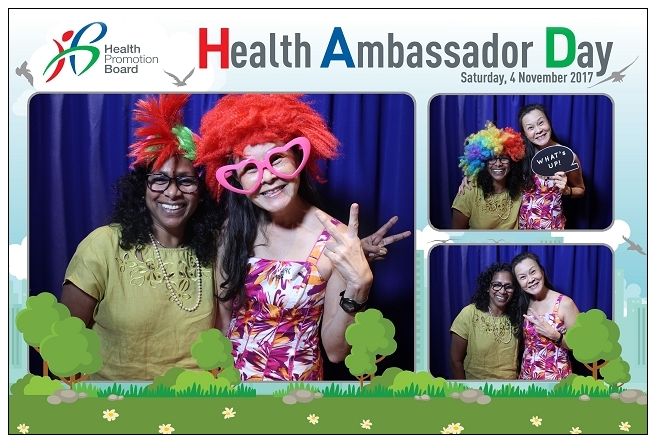 health promotion board, HPB, Health Ambassador Day, Concorde Hotel Singapore, Photobooth Singapore, Instant Prints Singapore